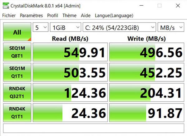 Disque dur Crucial SSD SATA3 BX500